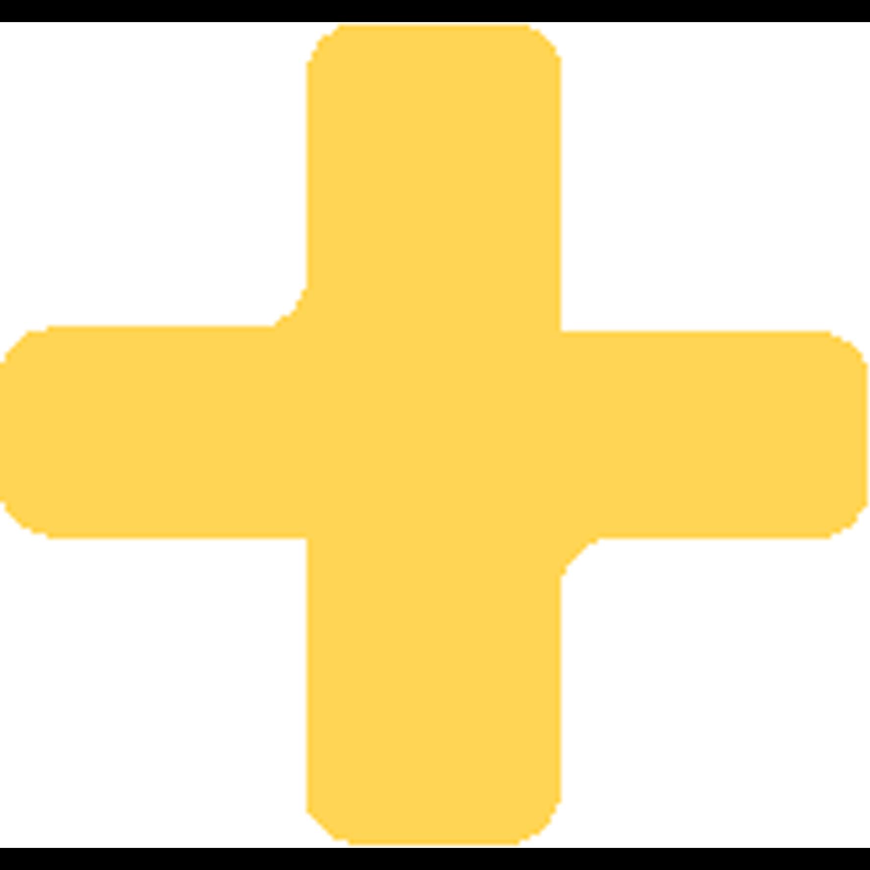 gelbes Plus als Aufzählungszeichen